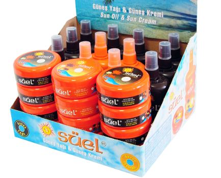 sun cream oil lotion set